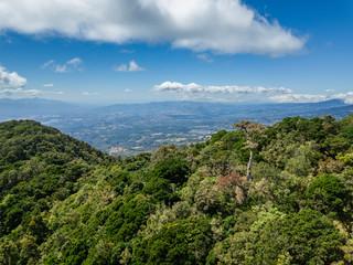 Beautiful aerial view of the Barva Volcano in Costa Rica