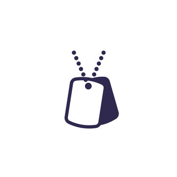 military dog tags icon