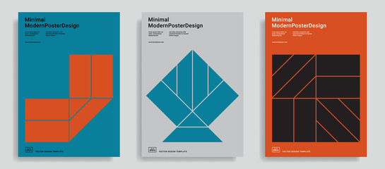 Design templates with simple geometric shapes.