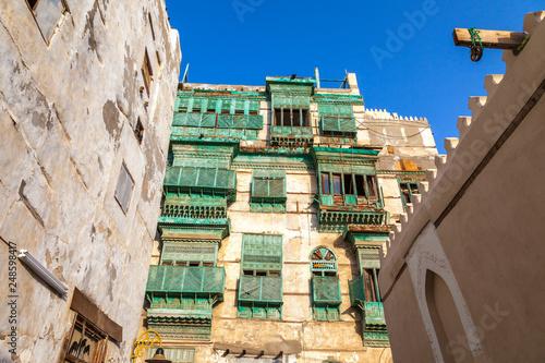 Old city in Jeddah, Saudi Arabia known as Historical Jeddah