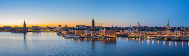 Wall Mural - Stockholm skyline at twilight in Stockholm city, Sweden