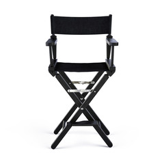 Director Chair isolated on white. Front view. 3d rendering