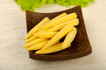 Young baby corn