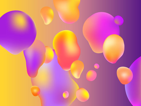 Lava lamp. Abstract background. Vector. Colorful bubbles.