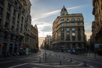 Barcelona - Vía Laietana al amanecer