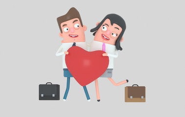Couple in love. Isolated. Easy automatic vectorization. Easy background remove. Easy color change. Easy combine.