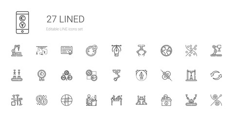 lined icons set