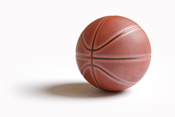 Basketball isolated on white with clipping path. Realistic 3d illustration