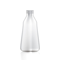 Open packaging bottles with lid for food Drinks and cosmetics.