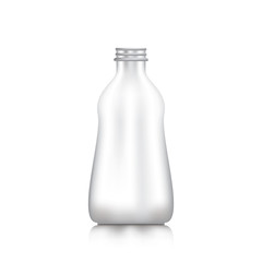 Bottles for food Drinks and cosmetics on white background.