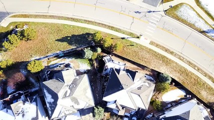 Wall Mural - Aerial view of luxury residential community.