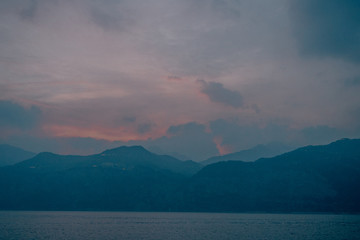 Lago di Garda in Italy while sunset
