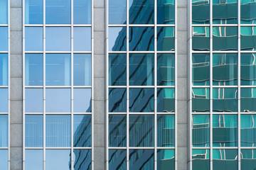 Moderne Bürohausfassade