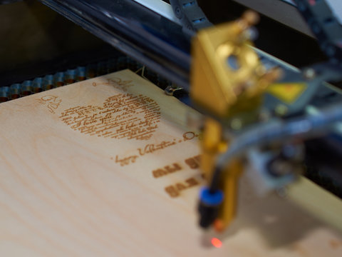postcard laser cutting process