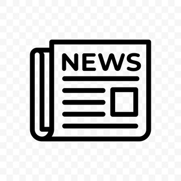 News newspaper vector line web newsletter and app linear icon