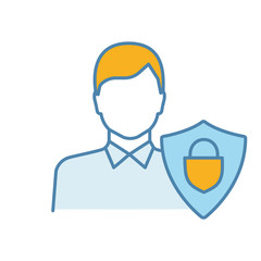 Customers protection color icon