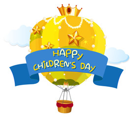 A happy children's day template