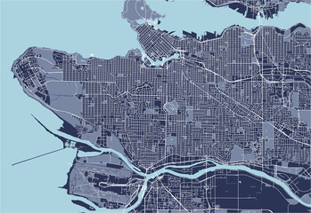 map of the city of Vancouver , Canada