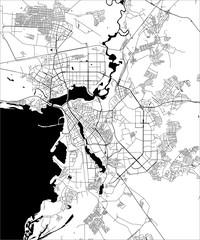 map of the city of Kazan, Tatarstan, Russia