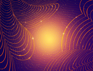 Abstract shining waves dynamic background