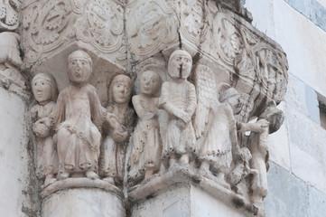 Chatedral of St. Andrea. Carrara. Tuscany. Italy.