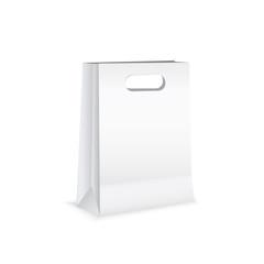 White paper bag isolated on white background. vector illustration