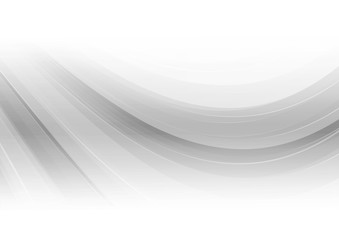 Gray curved abstract background