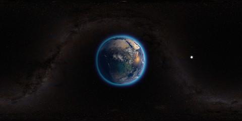 unser planet 360° vr render