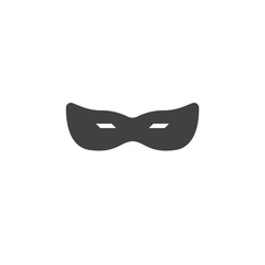 Masquerade mask vector icon. filled flat sign for mobile concept and web design. Brazil carnival mask simple solid icon. Carnival, party, celebration symbol, logo illustration. Pixel perfect vector
