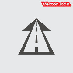 Road icon isolated sign symbol and flat style for app, web and digital design. Vector illustration.