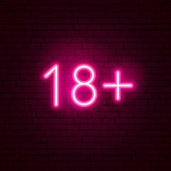 Fototapeta 18+ Neon Sign obraz