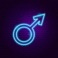 Male Gender Neon Sign