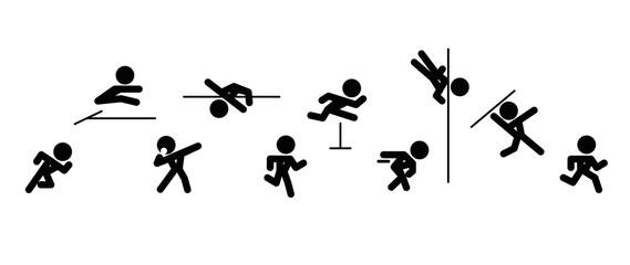 Icons of decathlon-athlete