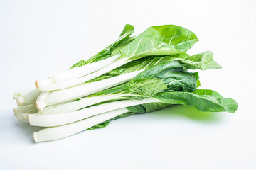 a handful of fresh cabbage on a white background