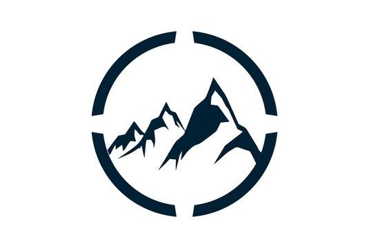 abstract three mountain logo icon
