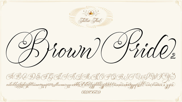 Brown Pride Font on brown
