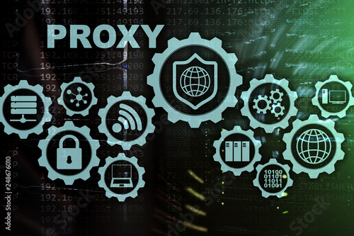 Proxy server  Cyber security  Concept of network security on