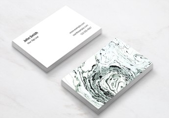 Business Card Layout with Salt Stone Image