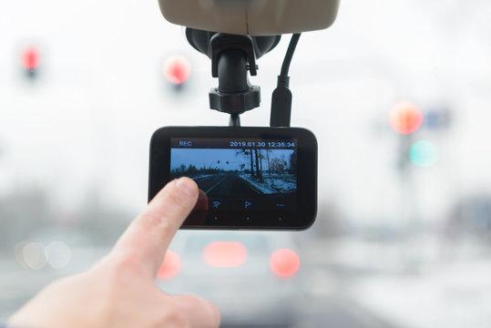 Using dashboard camera in the car