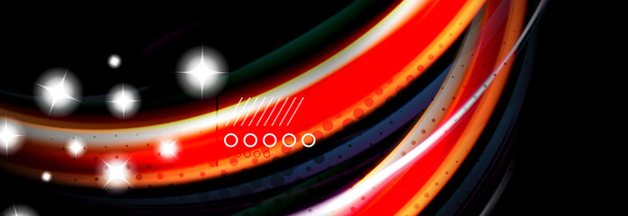 Color flow poster. Wave Liquid shape color background. Art design for your design