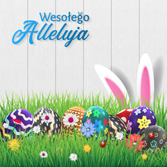 Polish Happy Easter Greeting Card