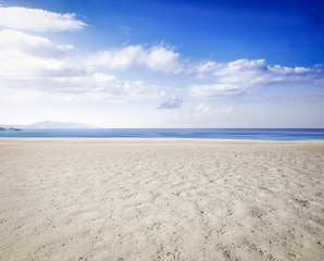 beach background and sea landscape of blue sky