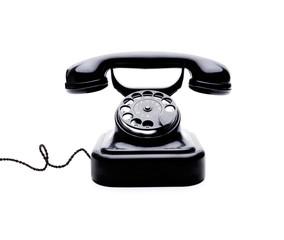 Black Retro Telephone