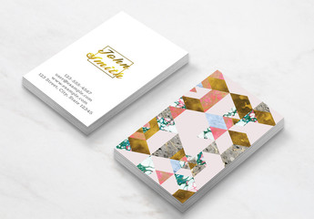 Marble Geometry Business Card Layout