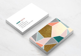 Geometric Business Card Layout