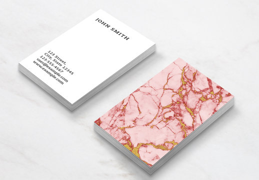 Marble and Gold Business Card Layout