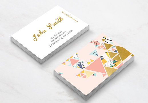 Gold Abstract Business Card Layout
