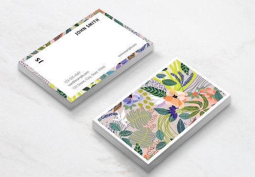 Abstract Pattern Business Card Layout