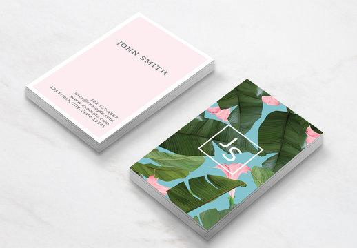 Wild Flower Business Card Layout