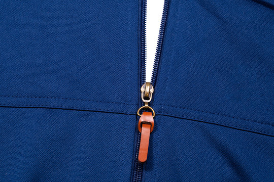 texture blue sports jacket with zipper
